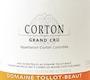 Domaine Tollot-Beaut et Fils Corton Grand Cru  - label