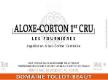 Domaine Tollot-Beaut et Fils Aloxe-Corton Premier Cru Les Fournières - label