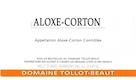 Domaine Tollot-Beaut et Fils Aloxe-Corton  - label