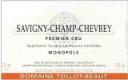 Domaine Tollot-Beaut et Fils Savigny-lès-Beaune Premier Cru Savigny-Champ-Chevrey - label
