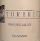 Torbreck Descendant - label