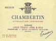 Domaine Jean Trapet Père et Fils (ex Louis Trapet) Chambertin Grand Cru  - label