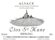Trimbach Clos Sainte Hune - label