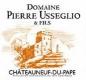 Domaine Pierre Usseglio et Fils Châteauneuf-du-Pape  - label