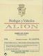 Bodegas Vega-Sicilia Alión - label