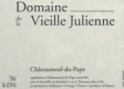 Domaine de la Vieille Julienne Châteauneuf-du-Pape  - label