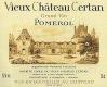 Vieux Château Certan  - label