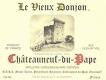 Le Vieux Donjon Châteauneuf-du-Pape  - label
