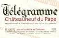 Domaine du Vieux Télégraphe Châteauneuf-du-Pape Télégramme - label