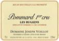 Domaine Joseph Voillot Pommard Premier Cru Les Rugiens - label