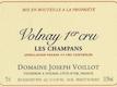 Domaine Joseph Voillot Volnay Premier Cru Champans - label