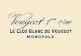 Domaine de la Vougeraie Vougeot Premier Cru Le Clos Blanc - label
