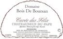 Domaine Bois Boursan Châteauneuf-du-Pape Cuvée des Félix - label