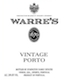 Warre's Porto  Vintage Port - label
