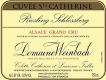Domaine Weinbach Riesling Schlossberg Cuvée Sainte Catherine Grand Cru - label