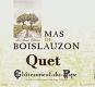 Mas de Boislauzon Châteauneuf-du-Pape Quet - label