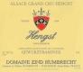 Domaine Zind-Humbrecht Hengst Gewürztraminer Grand Cru - label