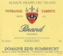 Domaine Zind-Humbrecht Riesling Brand VT Grand Cru - label