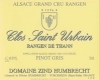 Domaine Zind-Humbrecht Clos Saint Urbain Rangen de Thann Pinot Gris Grand Cru - label