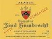 Domaine Zind-Humbrecht Gewürztraminer - label