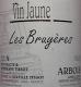 Domaine André et Mireille Tissot Arbois Les Bruyères Vin Jaune - label