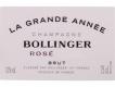 Bollinger Grande Année Rosé - label