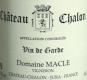 Domaine Macle Château-Chalon  - label