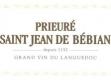 Prieuré de Saint-Jean de Bébian Blanc - label