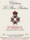 Château Le Bon Pasteur  - label