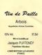 Domaine Jacques Puffeney Arbois  Vin de Paille - label