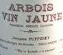 Domaine Jacques Puffeney Arbois  Vin Jaune - label