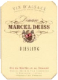 Domaine Marcel Deiss Riesling VT - label