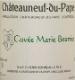 Henri Bonneau Châteauneuf-du-Pape Cuvée Marie Beurrier - label