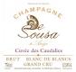 De Sousa Cuvée des Caudalies Blanc de Blancs Grand Cru - label