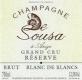De Sousa Brut Réserve Blanc de Blancs Grand Cru - label