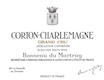 Domaine Bonneau du Martray Corton-Charlemagne Grand Cru  - label