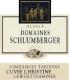 Domaine Schlumberger Cuvée Christine Gewürztraminer VT - label