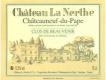 Château La Nerthe Châteauneuf-du-Pape Clos de Beauvenir Blanc - label