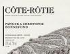 Domaine Patrick et Christophe Bonnefond Côte Rôtie  - label
