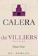 Calera De Villiers Vineyard Pinot Noir - label