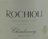 Rochioli Vineyards and Winery Estate Chardonnay - label