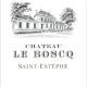 Château Le Boscq  - label