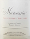 Marcassin Three Sisters Pinot Noir - label