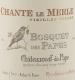Domaine Bosquet des Papes Châteauneuf-du-Pape Chante Le Merle Vieilles Vignes - label