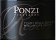 Ponzi Vineyards Reserve Pinot Noir - label