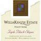 WillaKenzie Estate Triple Black Slopes Pinot Noir - label