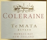 Te Mata Coleraine - label