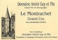 Domaine Guy Amiot et Fils Montrachet Grand Cru  - label