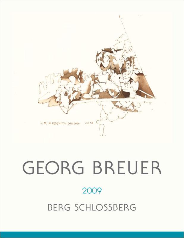Georg Breuer Rüdesheimer Berg Schlossberg Riesling Auslese Goldkapsel - label