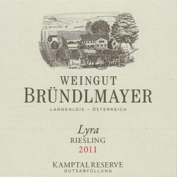 Weingut Bründlmayer Riesling Heiligenstein Lyra Reserve - label